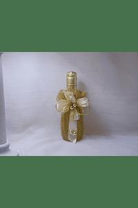 C14144 - Garrafa espumente em rede ouro