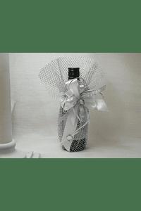 C14022 - Garrafa Vinho do Porto em rede prata