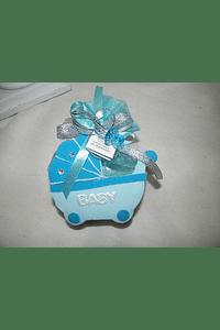 C14216 - Carrinho de bebé em cizal na cor azul.