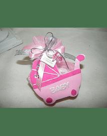C14217 - Carrinho de bebé em cizal cor-de-rosa