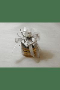 C15011 - Frasco de mel em saco de tule decorado