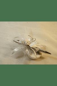 C15309 - Caneta decorada com sabonete, pão, hóstia e sabonete