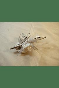 C15614 - Caneta decorada com alianças e sabonete