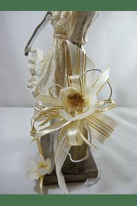 M15506 - Estatueta em resina de casal de Dançarinos, Decorada