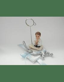 C18316 - Busto menino comunhão sobre base branca