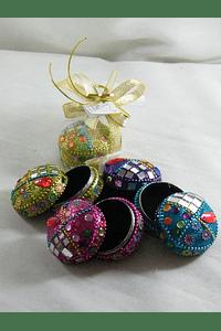 C15021 - Caixinhas em cores sortidas decoradas