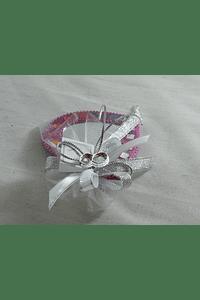 C15022 - Espelho em cores sortidas decorado em prata