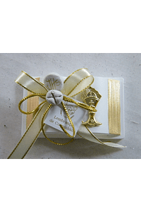 C15323 - Bíblia decorada em bege e dourado