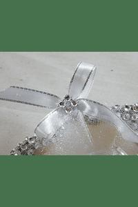 C15702 - Concha decorada com strass para porta alianças
