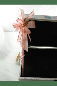 C6016 - Caixa madeira com azulejo decorada para transportar lembranças