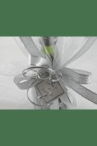 C15616 - Garrafa de Porto Cruz em trouxa organza