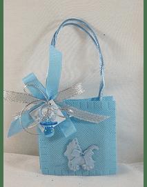 C15246 - Saco tecido azul com chupeta e sabonete