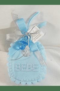 C15255 - Babete em tecido azul com sabonete