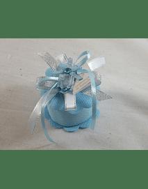 C15257 - Caixa redonda em tecido azul