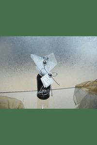 C6166 - Garrafinha Vinho do Porto decorada com arame prata