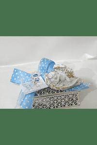 C19241 - Caixinha acrílica decorada com anjinho nas asas