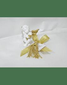 C19342 - Base hóstia com anjo ouro