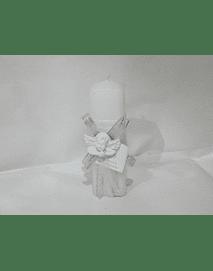 C19344 - Vela quadrada decorada com busto anjo