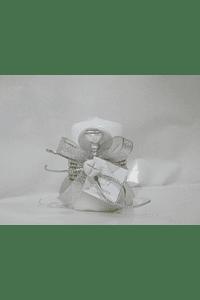 C19347 - Vela redonda decorada com cordão matizado