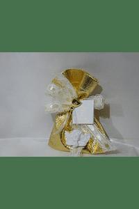 C19349 - Saco dourado decorado com busto de anjo