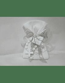 C19352 - Saco quadrilé decorado com dezena branca
