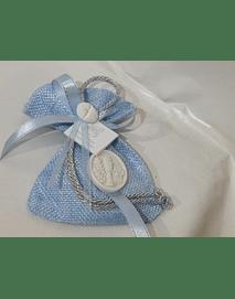 C19354 - Saco sarapilheira azul com hóstia ceramica