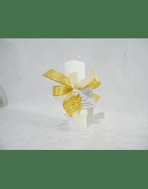 C16003 - Vela quadrada decorada com coração de Viana