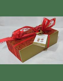 L2006 - Ballotin dourado decorado vermelho