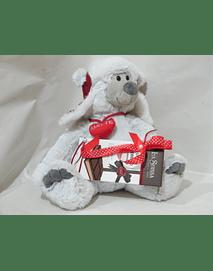L2014 -Ursinho peluche com gorro decorado