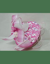 L2017  - Caixa coração cor de rosa