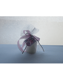 C13207- Vela pequena no saco decorada rosa