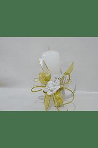 C20362 - vela quadrada decorada com busto anjo