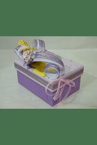 P20312 - Caixa retangular pequena decorada lilás