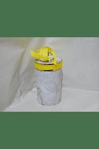 P20004 - Caixa cilindro grande decorada amarelo