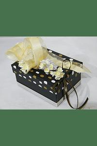 P20400 - Caixa retangular pequena decorada beije