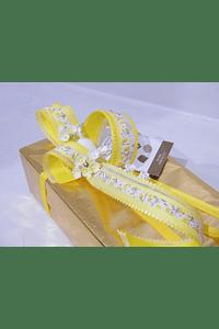 P20009 - Ballotin GUDRUN decorado amarelo