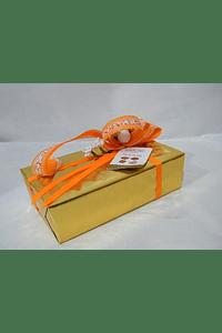 P20204 - Ballotin GUDRUN decorado laranja