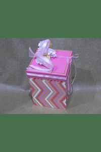 M2001 - Caixa cubo zig-zag grande decorada