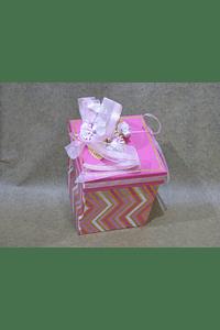 M2002 - Caixa cubo zig-zag media decorada