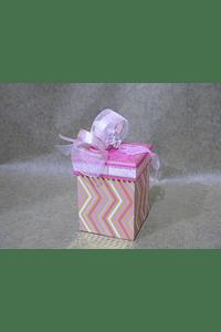 M2003 - Caixa cubo zig-zag pequena decorada
