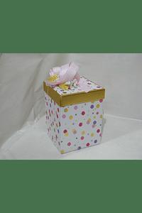M2009 - Caixa cubo pintas grande decorada
