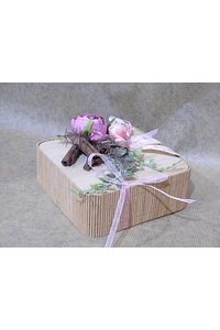 M2053 - Caixa bambu decorada