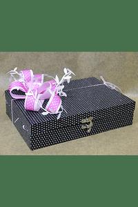 M2055 - Caixa forrada preta decorada