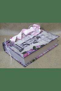M2056 - Caixa livro forrada decorada
