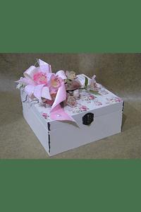 M2059 - Caixa madeira quadrada