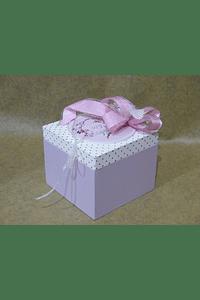 M2062 - Caixa madeira bolinhas decorada