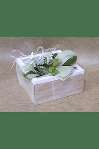 M2093 - Caixa madeira com azulejo verde decorada