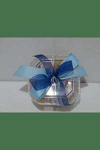 FA2016 - Caixa acrílica quadrada decorada azul