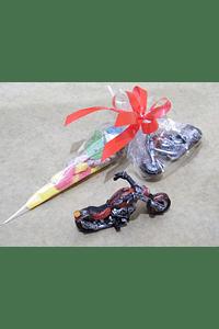 FA2018 - Cone gomas com mota vermelha
