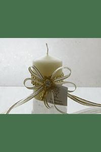 C3269 - Vela decorada com rede matalica